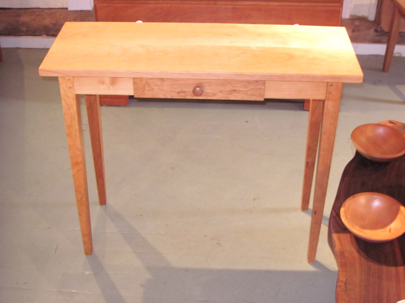 Tiger Maple And Cherry Desk Table Rockledge Farm