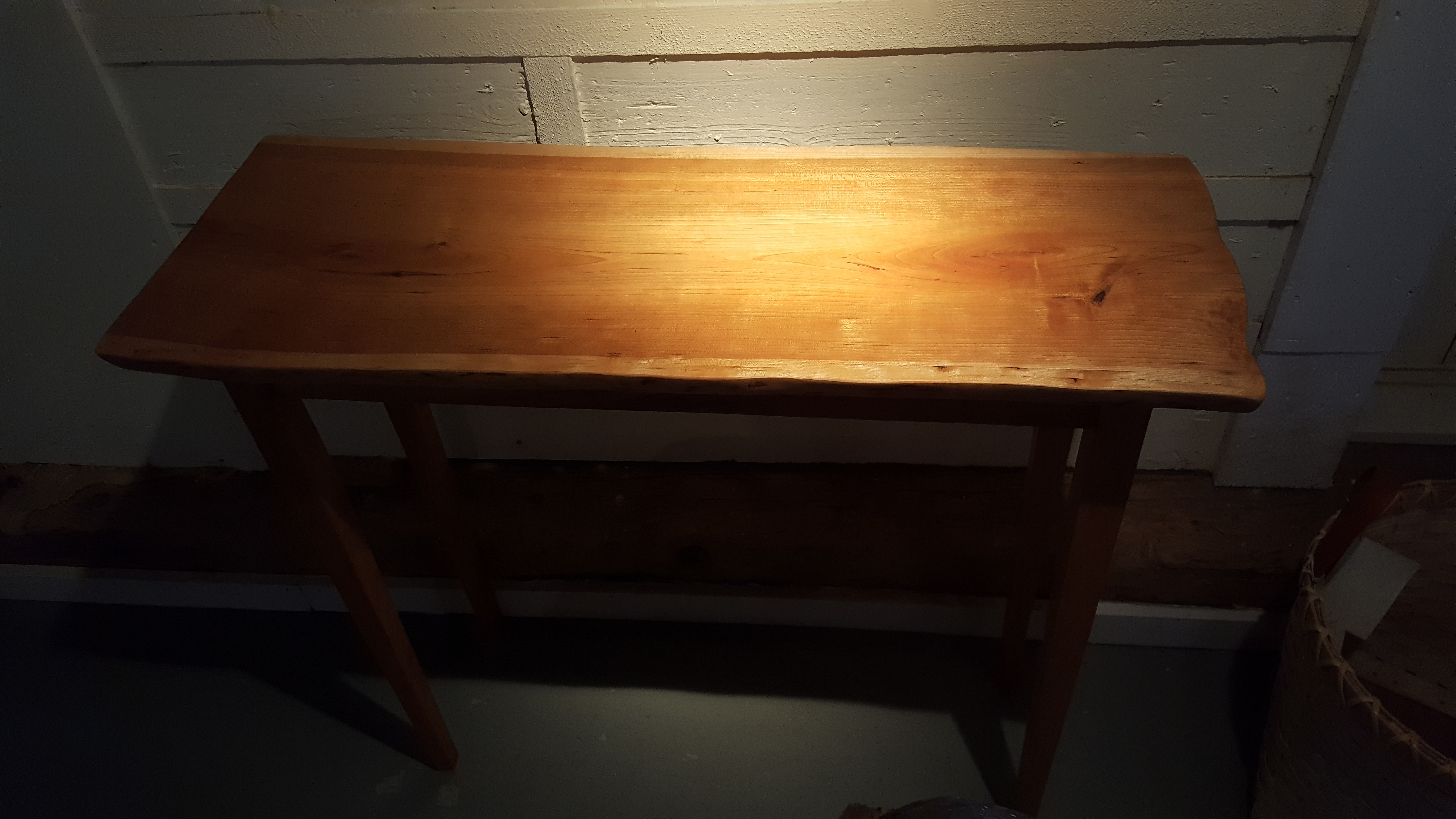 cherry, table, sofa, hall, side table, artisans, woodworking