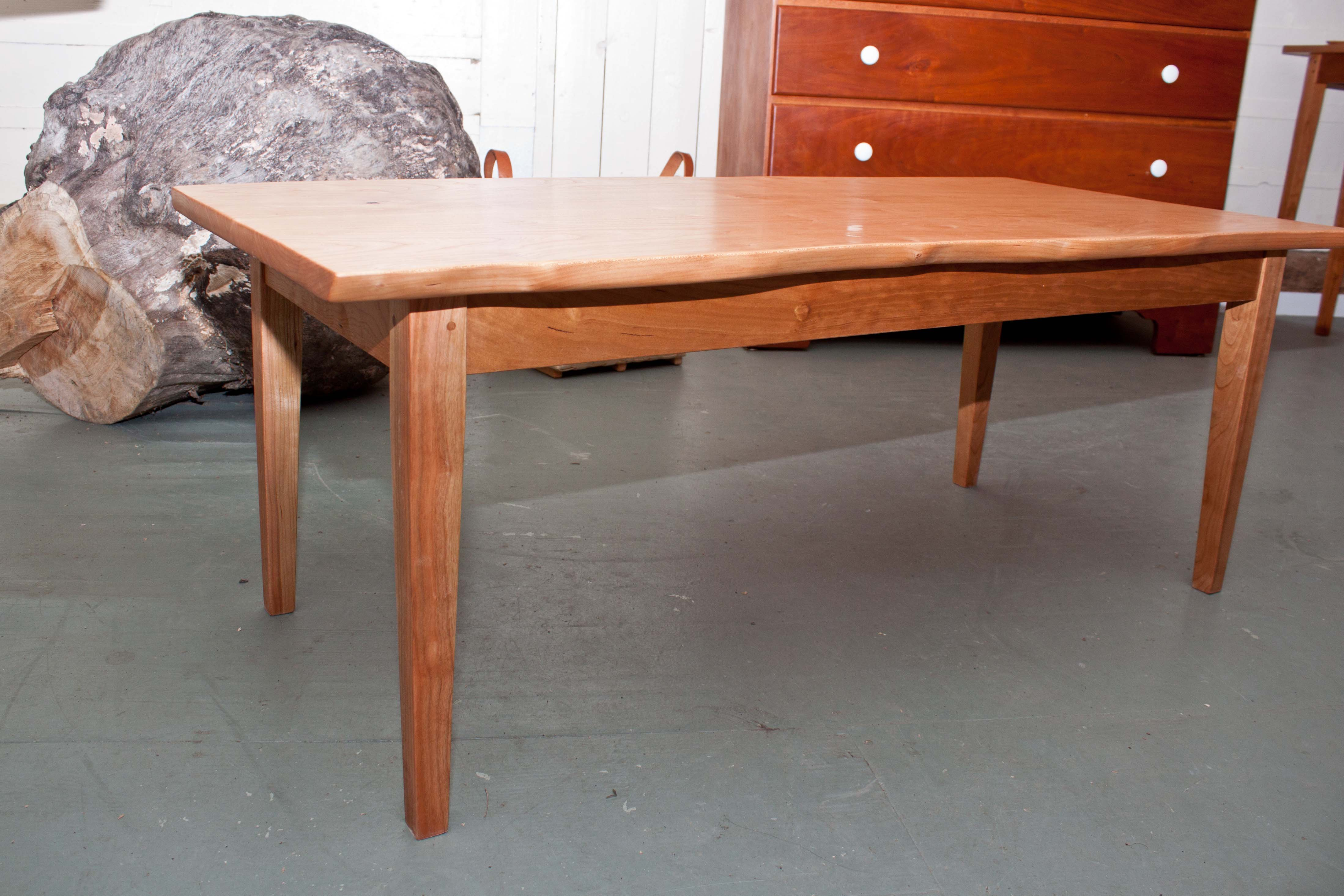 Natural Edge Cherry Coffee Table Rockledge Farm